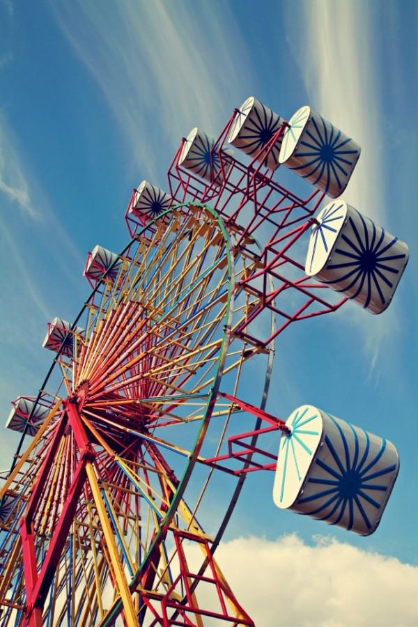 Technicolor Ferris Wheel, Maine County Fair