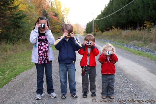 Maine kids with cameras