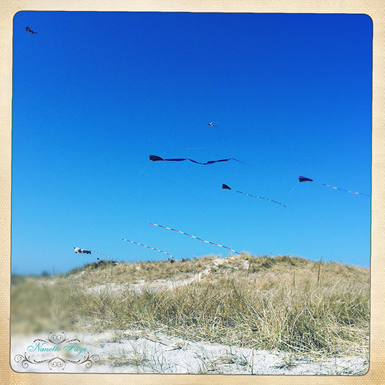 Maine, New Hampshire, kites, ocean, Seacoast, beach, photography, iPhoneography