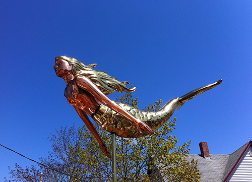 mermaid, Maine, weathervane, iPhone, iPhoneography, Nanette Faye Photography