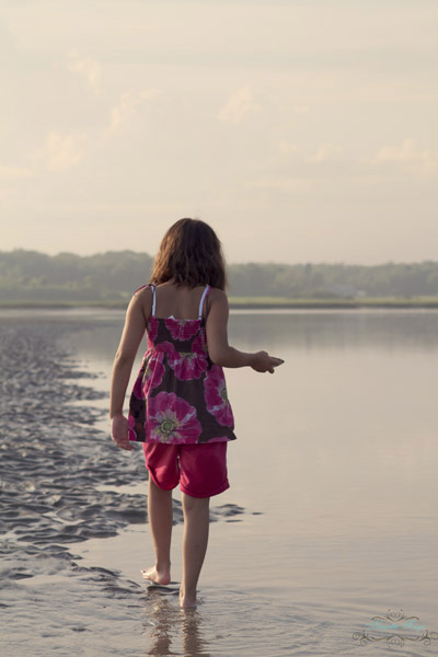 Maine, Maine coast, changes, beach, creativity, creative juices, little girl on beach, beachcombing