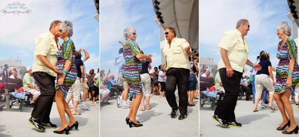 Hampton Seafood Festival, Hampton Beach, NH, New Hampshire, older couple, dancing, Nanette Faye Photography