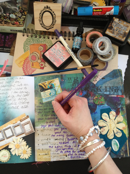 creative journaling, travel journals, Maine artists, mixed media artists, Maine coast retreat